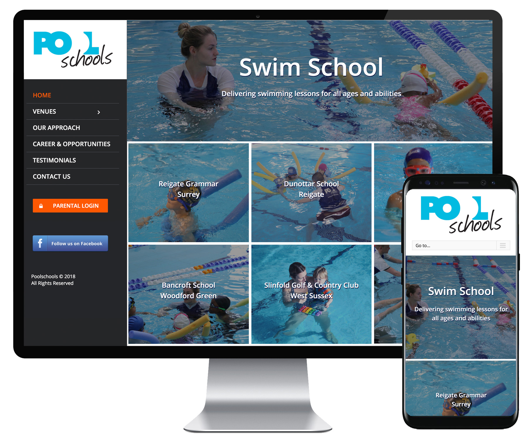 Pool Schools website