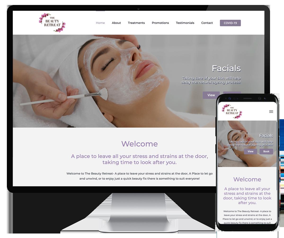 The Beauty Retreat website