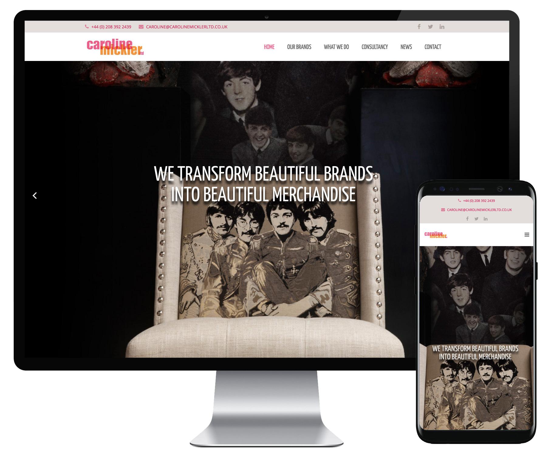 Caroline Mickler website