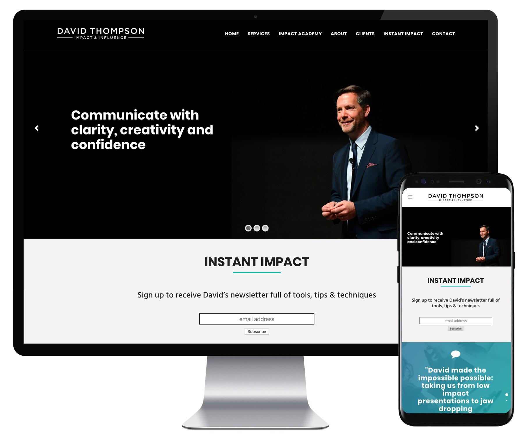 David Thompson website