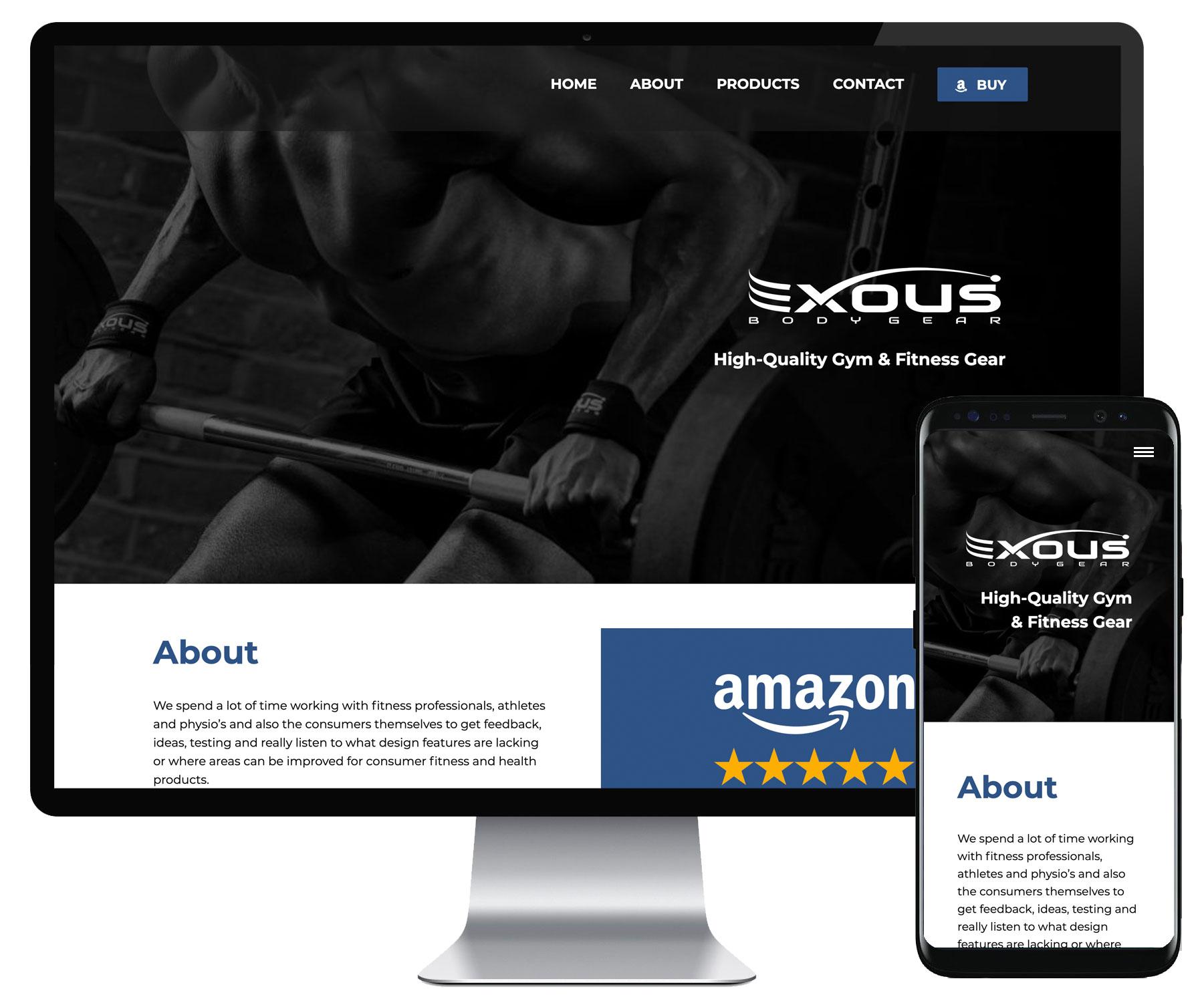 Exous Bodygear website