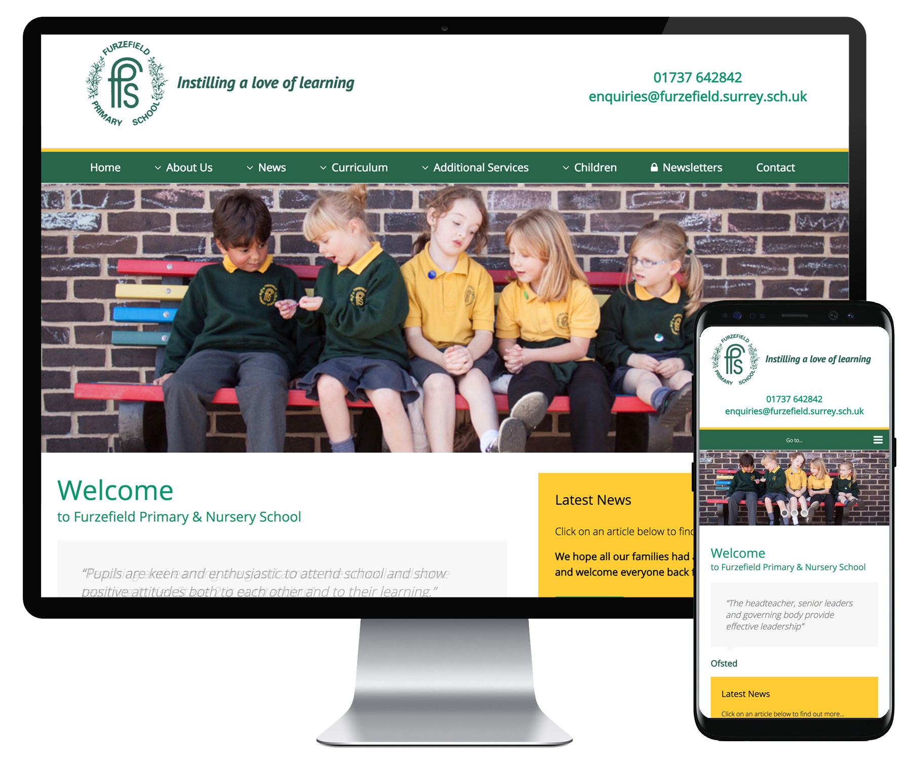 Furzefield School website
