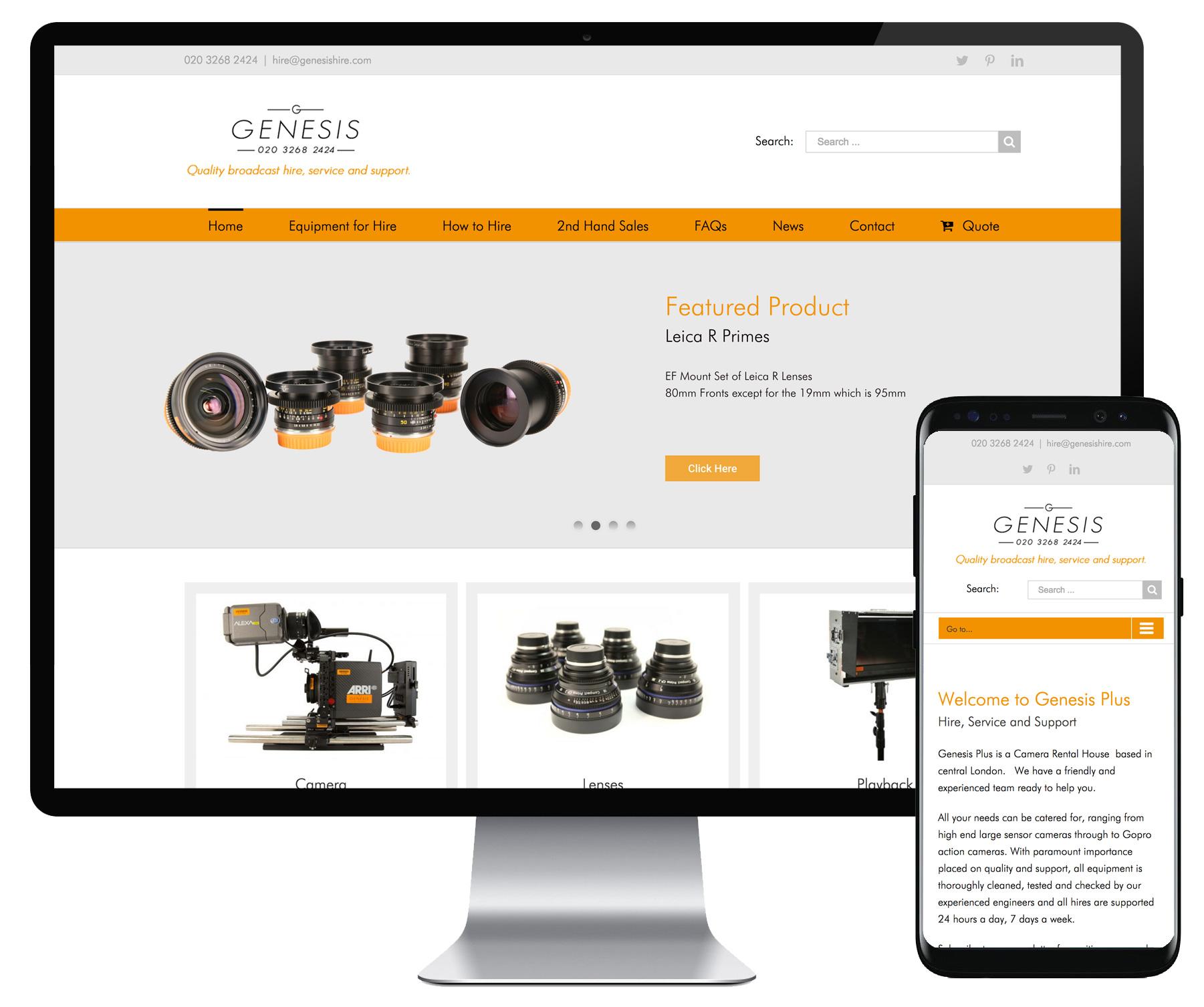 Genesis Hire website