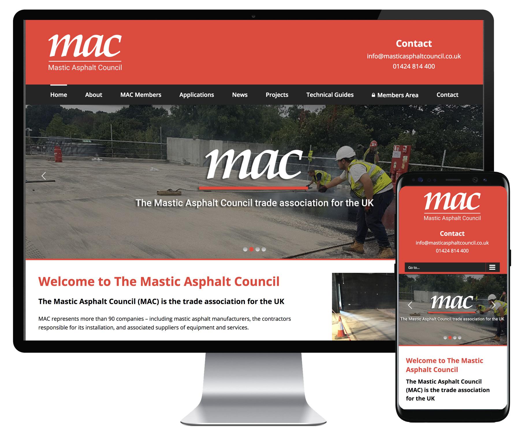 Mastic Asphalt Council website