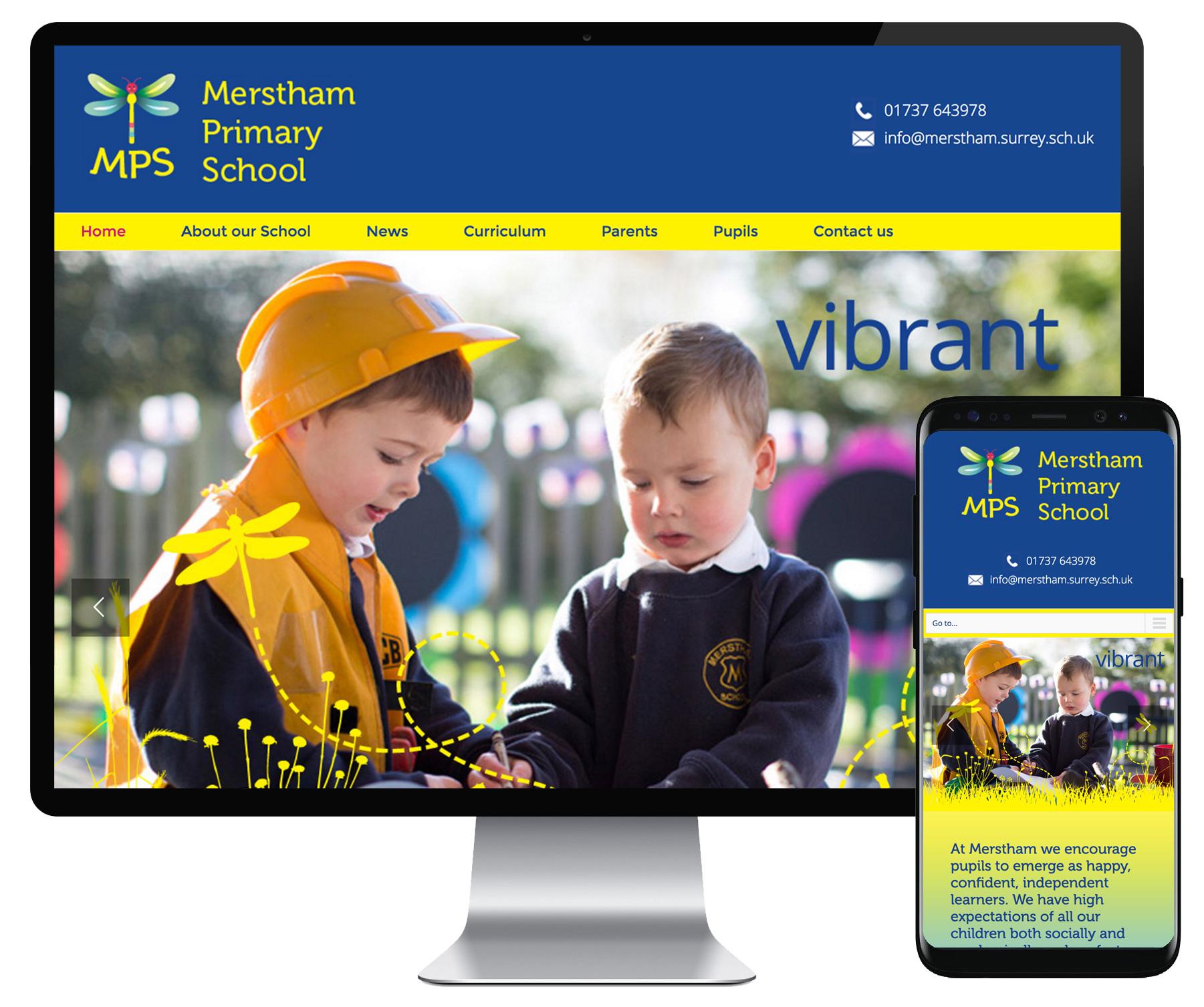 Merstham Primary School website